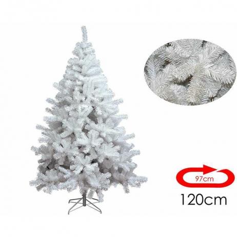 Albero Di Natale Bianco 90 Cm.Albero Di Natale Bianco 120 Cm E 97 Cm Di Diametro