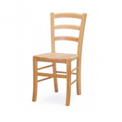 Sedia Venezia con struttura in legno massello di faggio con seduta in paglia di riso o in legno