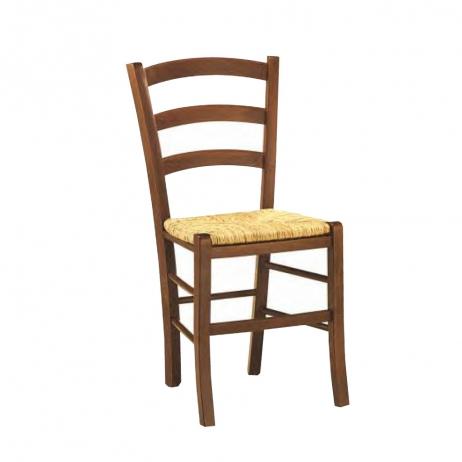 Sedia Paesana in legno massello con sedile in paglia