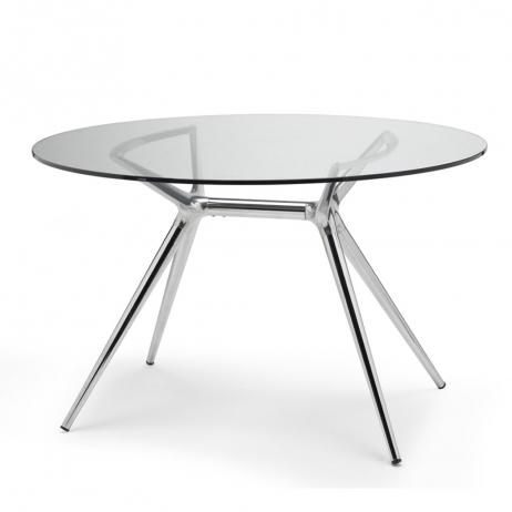 Tavolo Piano Vetro Tondo.Scab Design Piano Vetro Temperato Tondo Metropolis Spessore Di 12