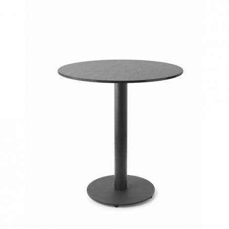 Immagini Tavolini Bar.Tavolino Da Bar Con Piano In Hpl Nero Bordo Nero Diametro 70 Cm