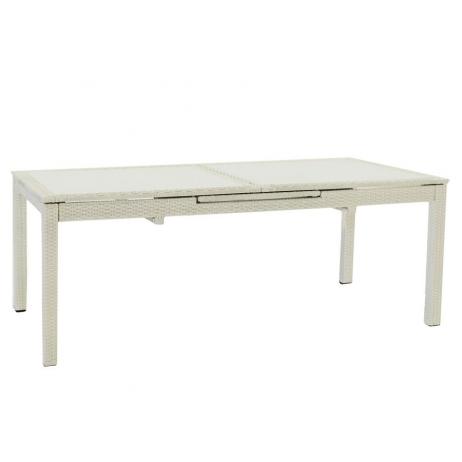 Tavolo Allungabile Alluminio E Vetro.Tavolo Adila Allungabile Alluminio E Vetro 160 220x100