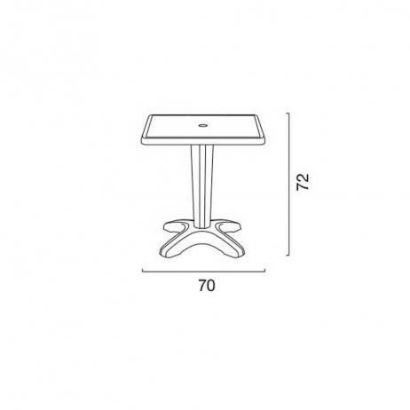 Tavoli Di Plastica Quadrati.Grand Soleil Tavolo Zavor Quadrato 70x70 In Polipropilene Cod 4160