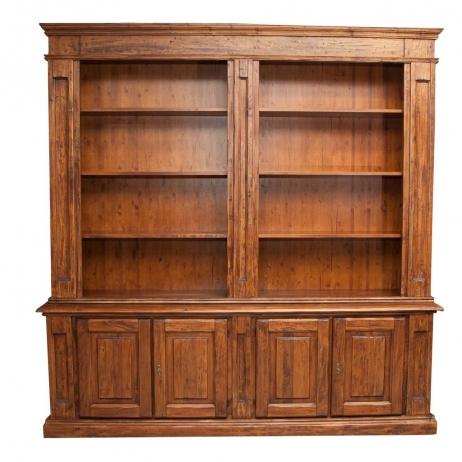 Libreria in legno massello di tiglio 4 ante