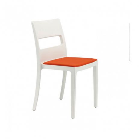 Scab Design Sedia Sai Con Cuscino Tessile Fisso Cod 4808