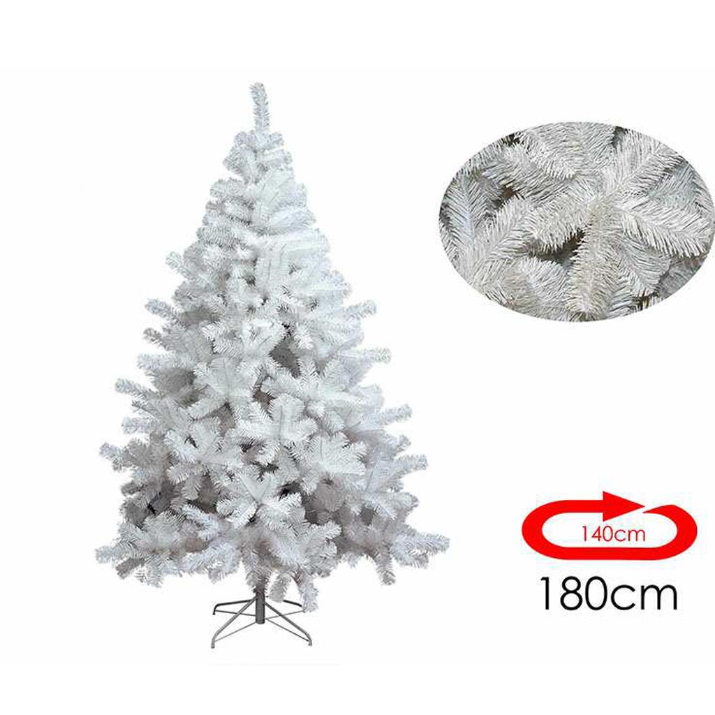 Albero Di Natale Bianco.Albero Di Natale Bianco 180 Cm E 140 Cm Di Diametro