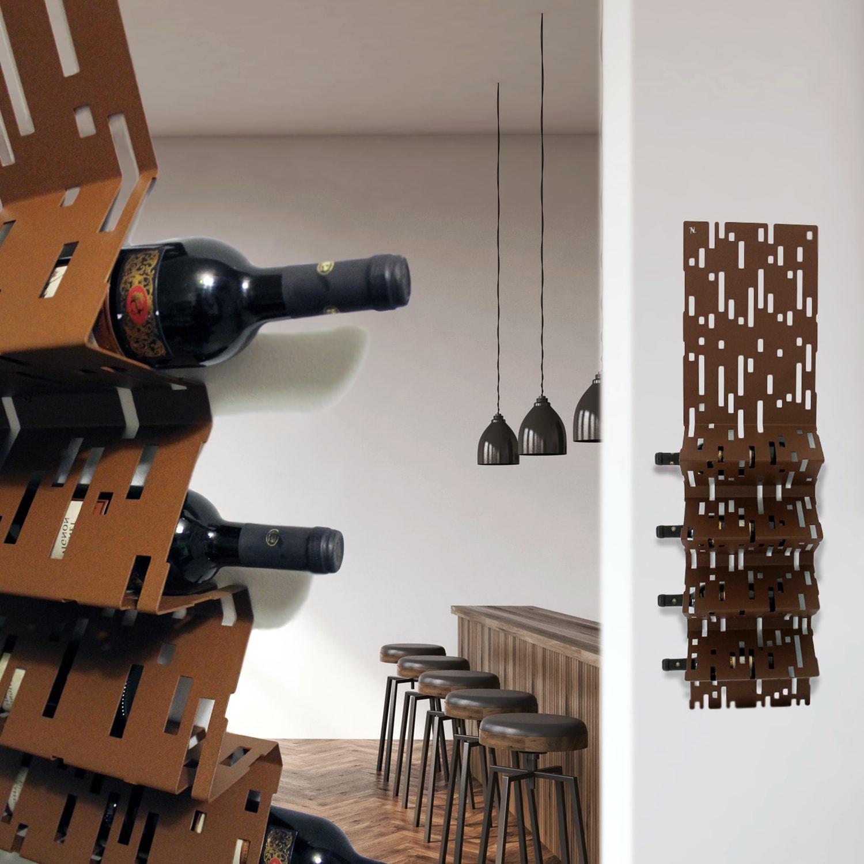 Nikla portabottiglie da parete barrique cod 7100 - Portabottiglie a parete ...