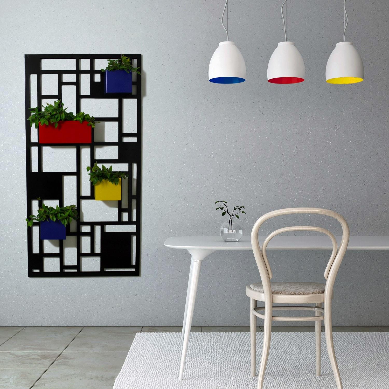 Nikla fioriera da parete composition multicolor cod 7103 - Portavaso da parete ...