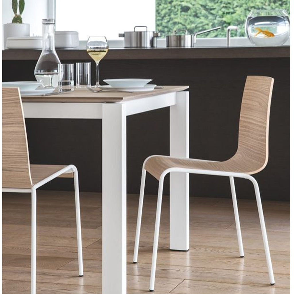 Connubia by calligaris sedia online dalla seduta in legno for Calligaris connubia