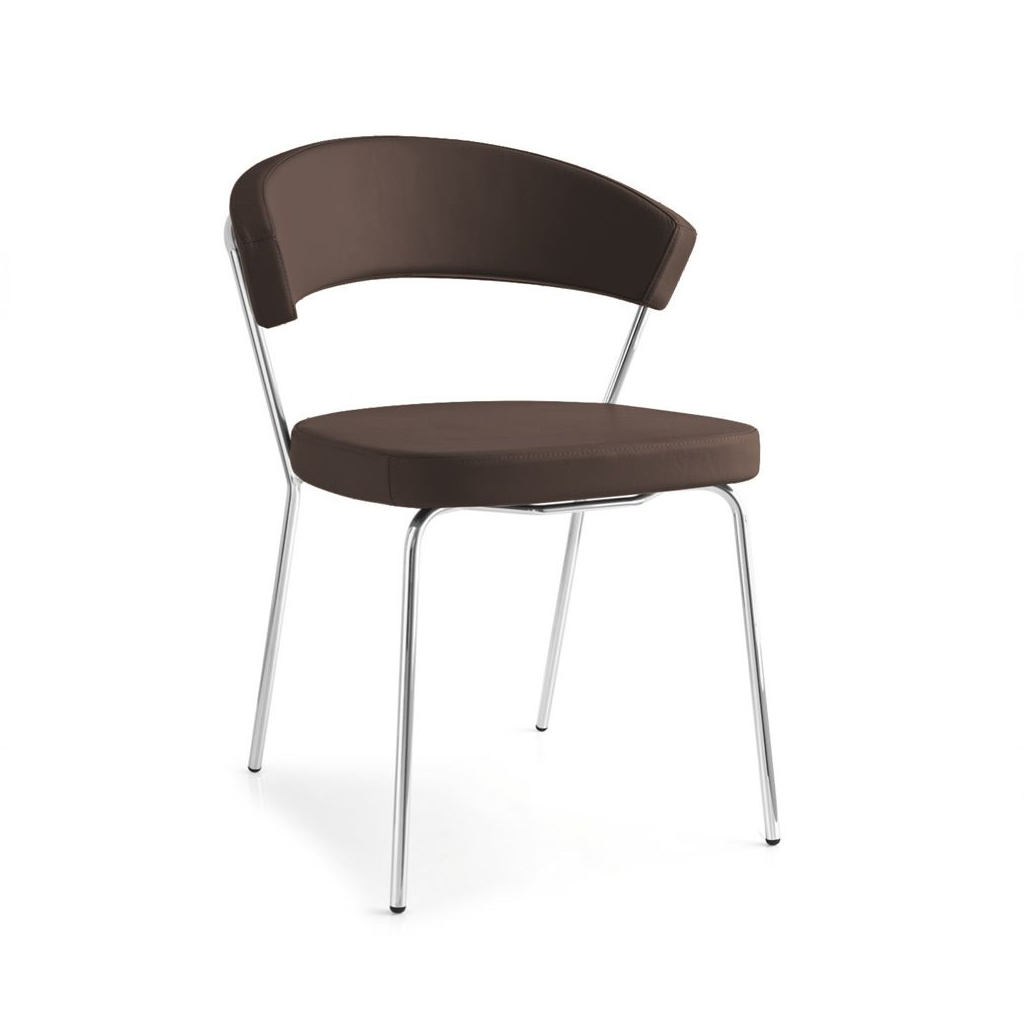 connubia by calligaris sedia new york 4 gambe in metallo