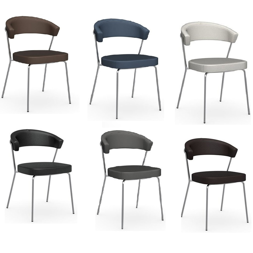 Connubia by calligaris sedia new york 4 gambe in metallo for Calligaris new york