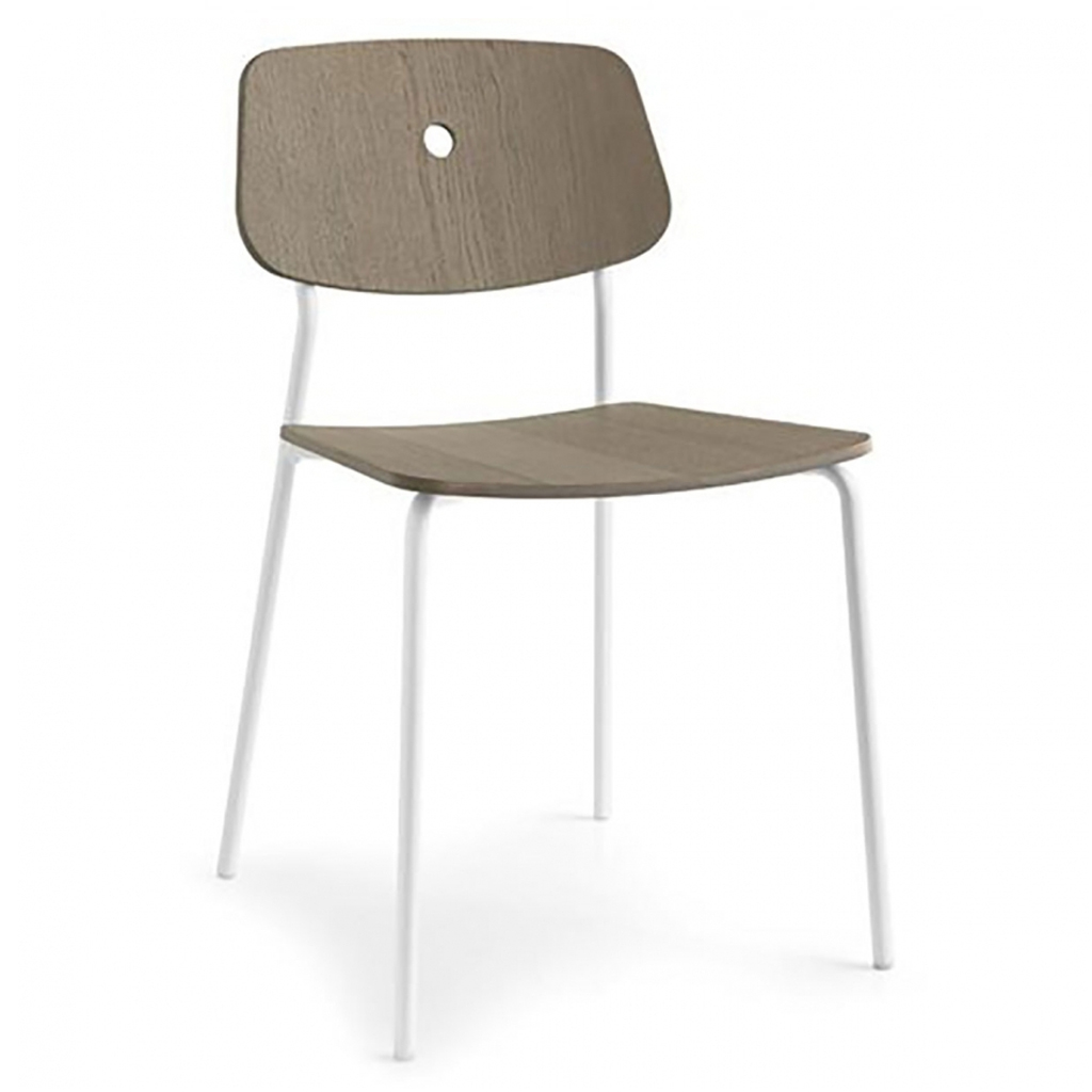 Connubia by calligaris sedia forum con gambe in metallo e for Calligaris connubia