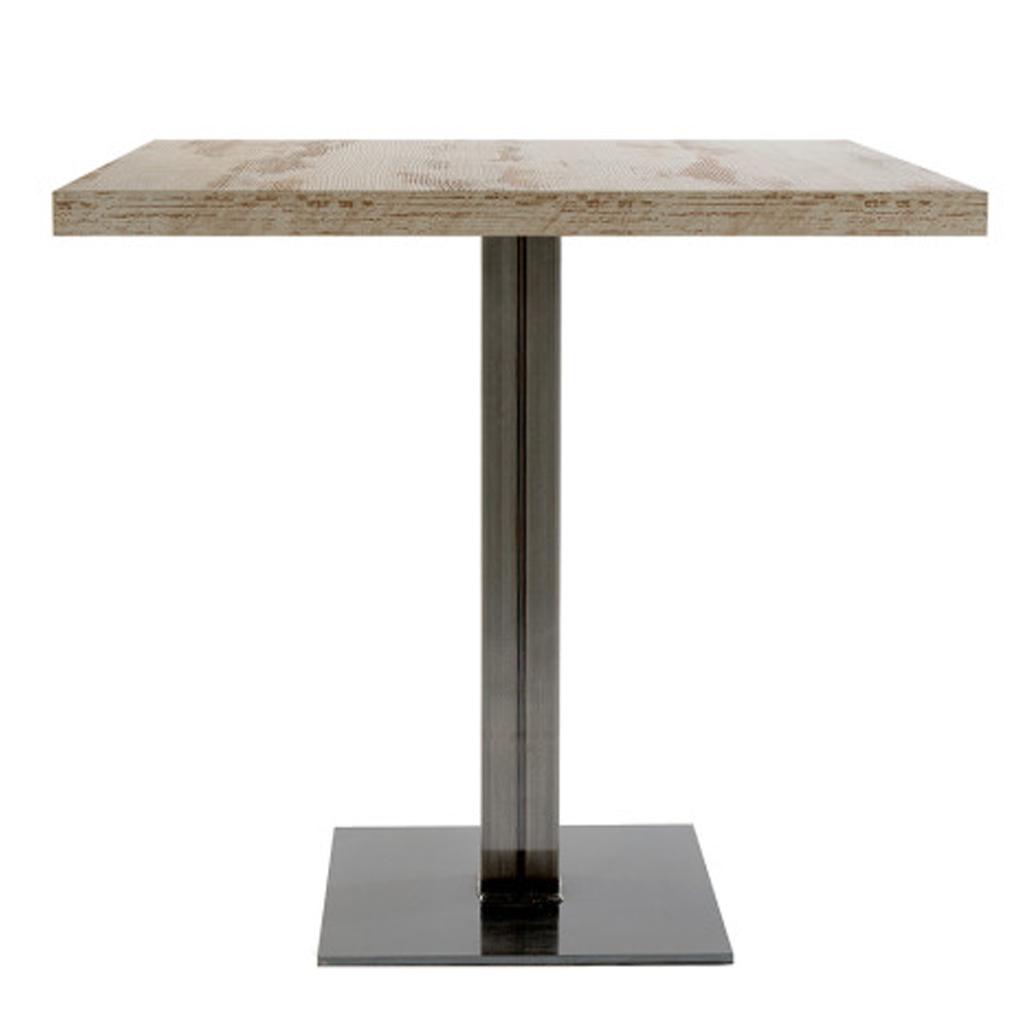 Vela arredamenti tavolo slim weld con base quadrata e - Tavoli vintage legno ...