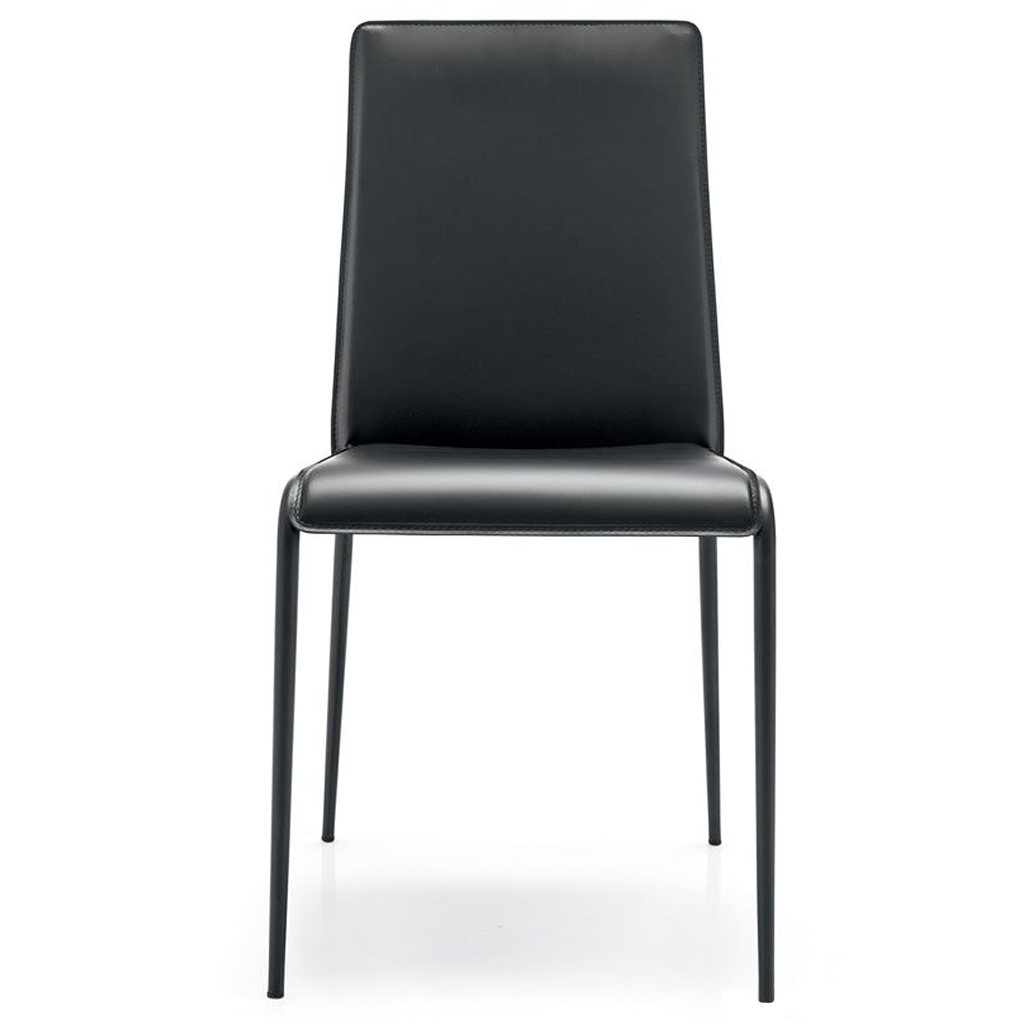 Connubia by Calligaris Sedia Parade in cuoio rigenerato cod. 7163