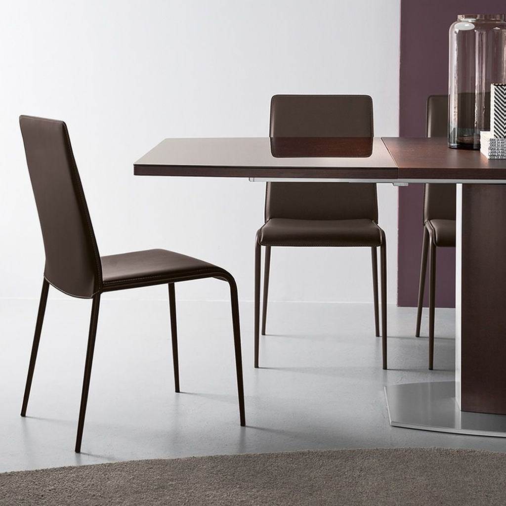 Connubia by calligaris sedia parade in cuoio rigenerato for Calligaris connubia