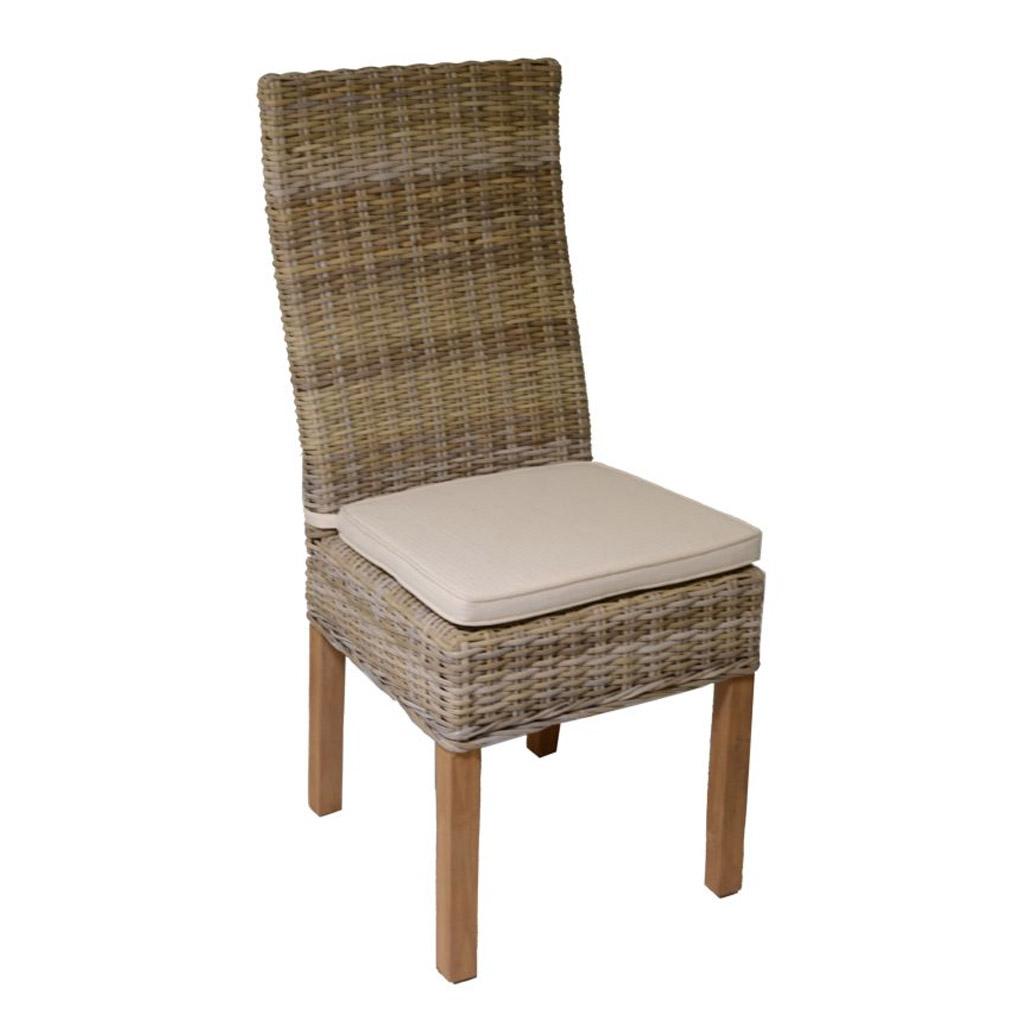 Vacchetti sedia felix in rattan c cuscino e gambe di legno for Gambe di legno
