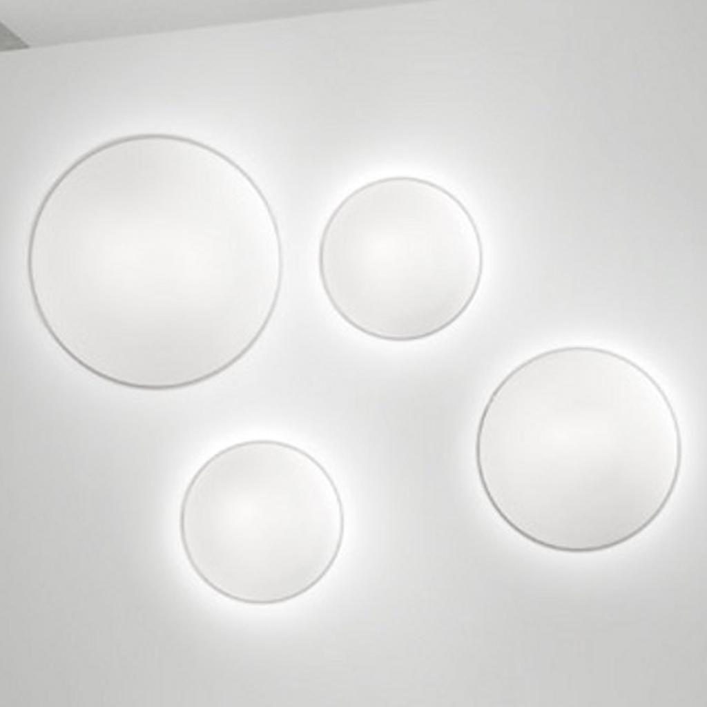 Vistosi lampada da parete e soffitto in vetro satinato aurora pp 40 cod 8086 - Parete in vetro satinato ...