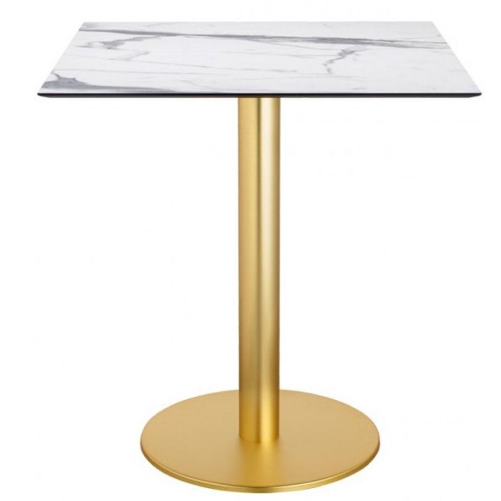 Scab Design Tavolo Tiffany Con Base In Ottone Satinato E