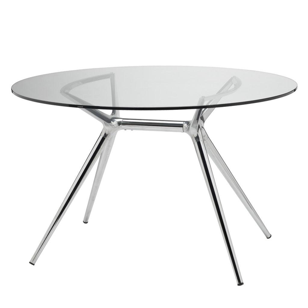 Scab design piano ellittico per tavolo metropolis in vetro - Piano tavolo vetro ...