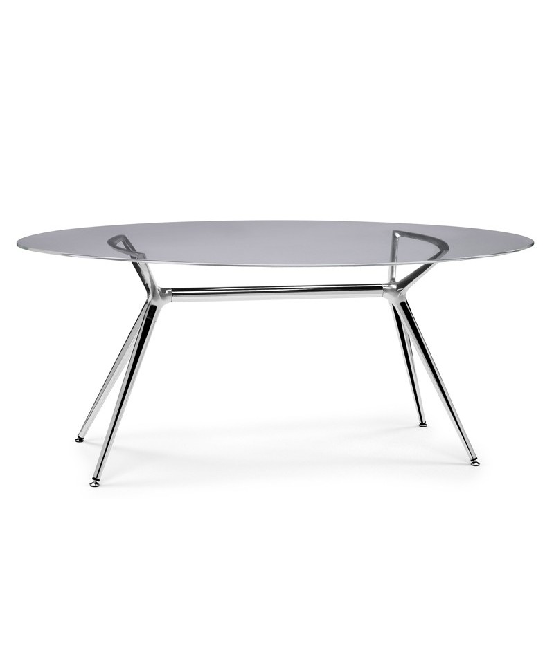 Scab design piano ellittico per tavolo metropolis in vetro - Tavolo vetro ovale ...