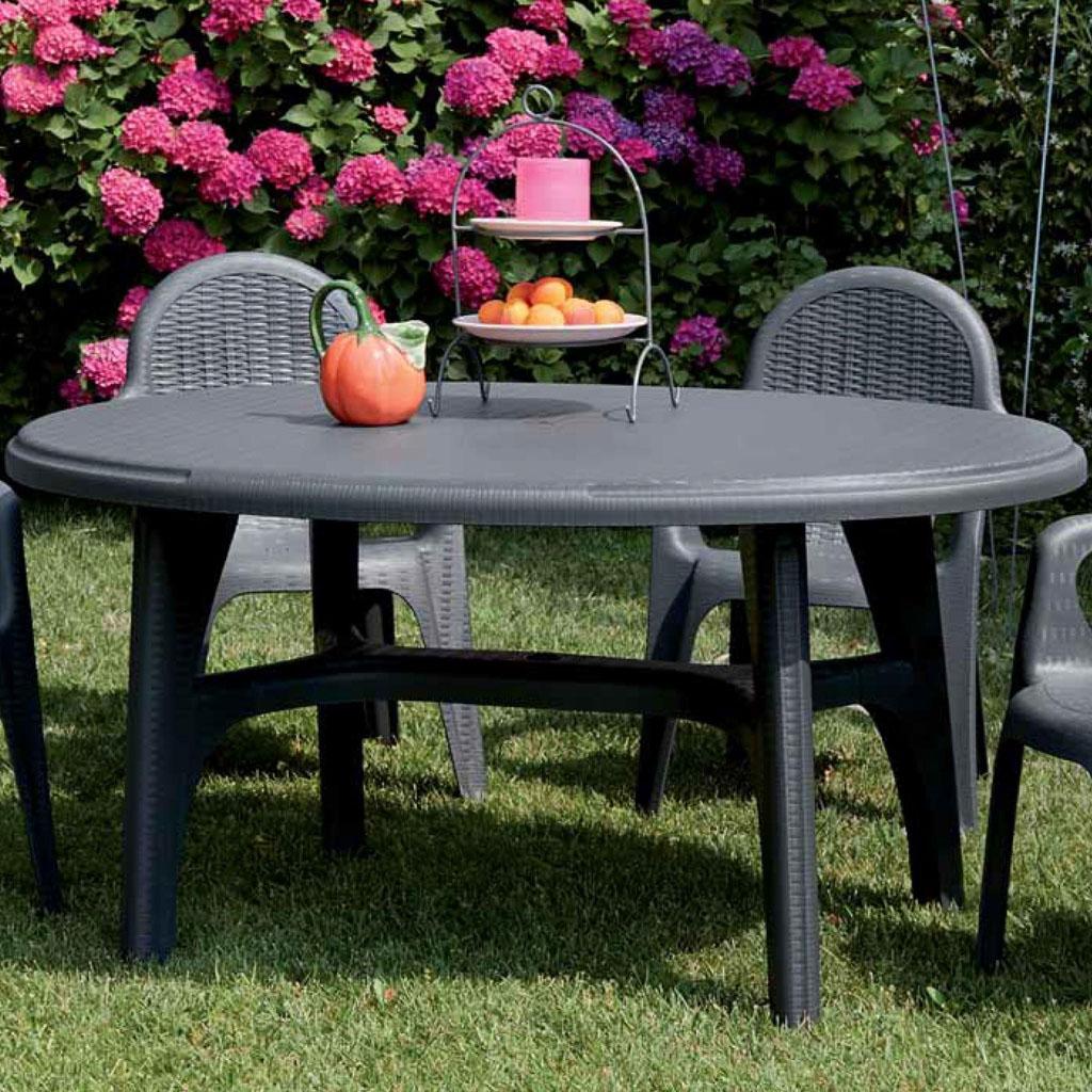 Scab design tavolo intrecciato ovale 120 x 100 cod 4327 - Tavolo ovale design ...