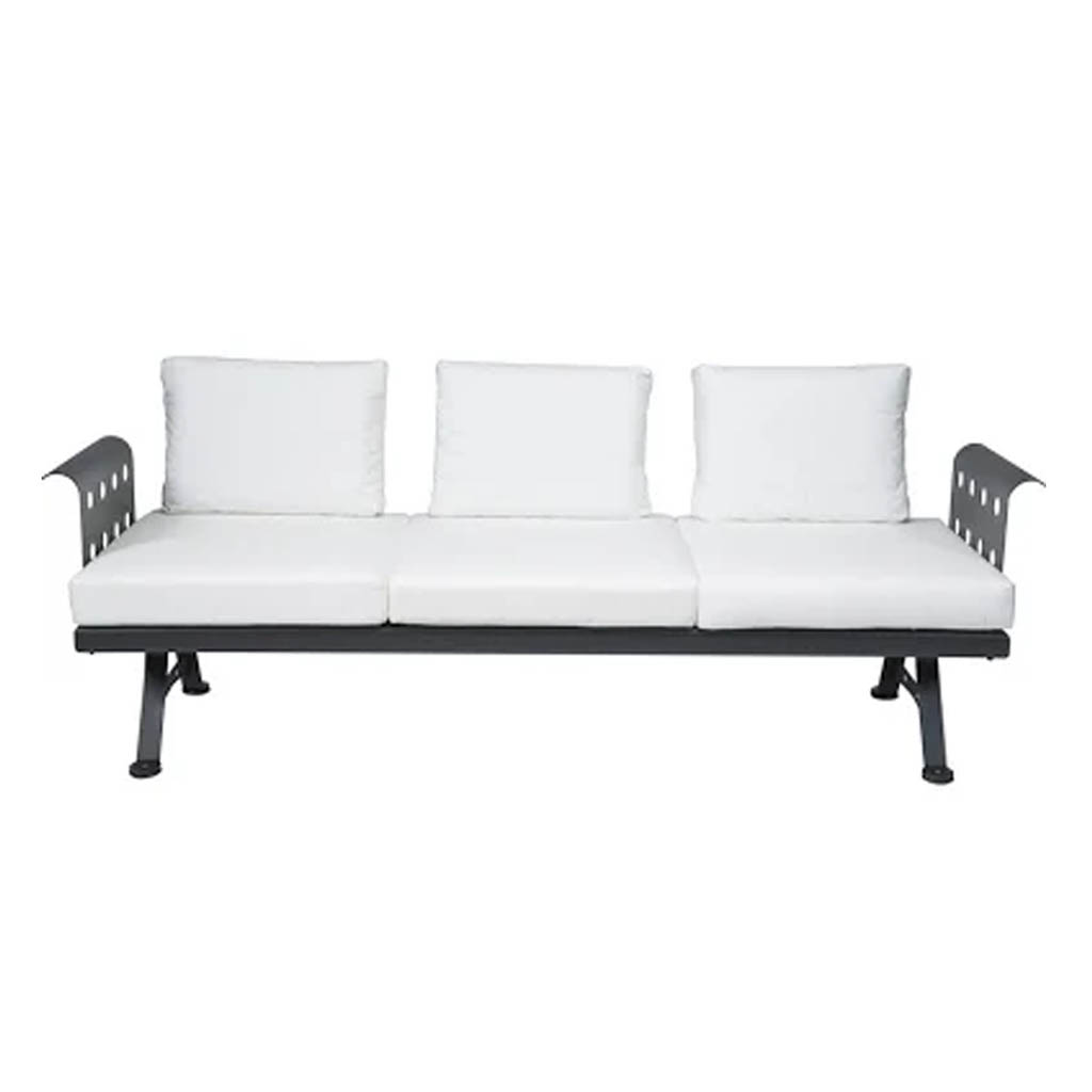 Rd italia divano modulare morris 3 posti completo con braccioli e schienali in acciaio cuscini - Cuscini seduta divano ...