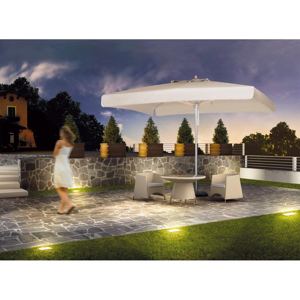 Scolaro ombrellone milano standard 3x3 con palo centrale for Ombrelloni da giardino milano