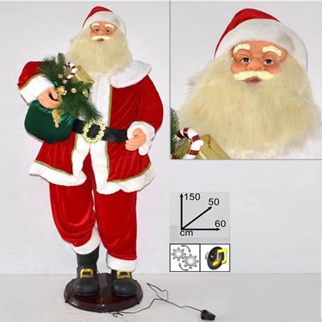 Immagini Natale Movimento.Babbo Natale 150 Cm Con Movimento E Musica