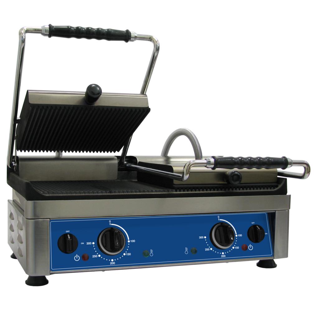 Amitek piastra in acciaio inox con piano cottura in ghisa large cod 5058 - Piastra in acciaio inox per cucinare ...