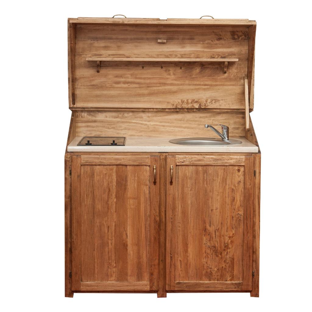 Biscottini credenza cucina con frigo lavello e piano for Credenza cucina