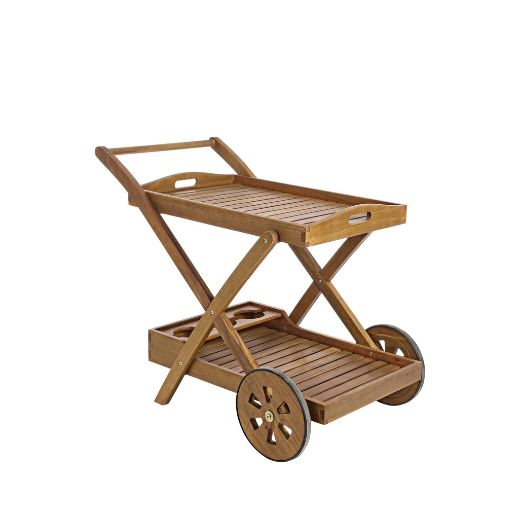 Bizzotto carrello noemi con ruote in legno di acacia for Bizzotto arredamenti