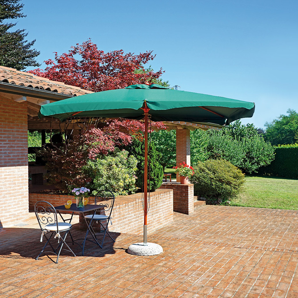 greenwood ombrellone de lux 3x2 palo centrale in legno con copertura in poliestere 230 gr cod 4125. Black Bedroom Furniture Sets. Home Design Ideas
