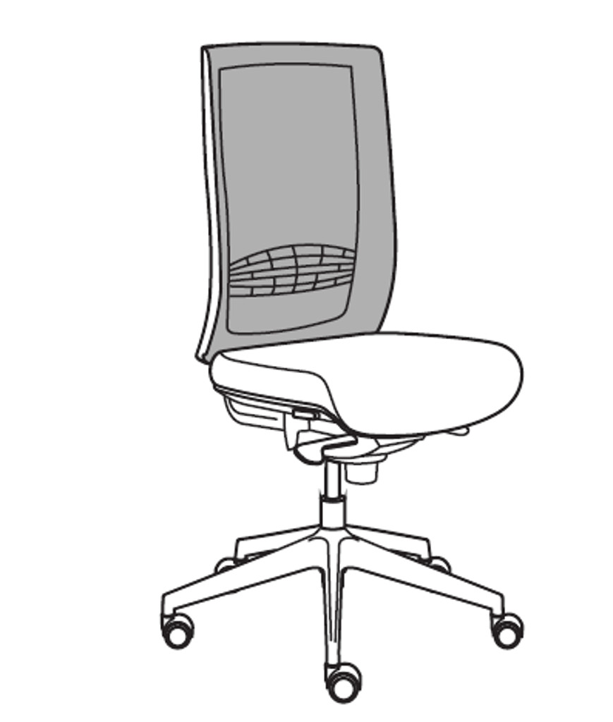 Leyform Sedia Da Ufficio Wiki Re Senza Braccioli Cod 4855