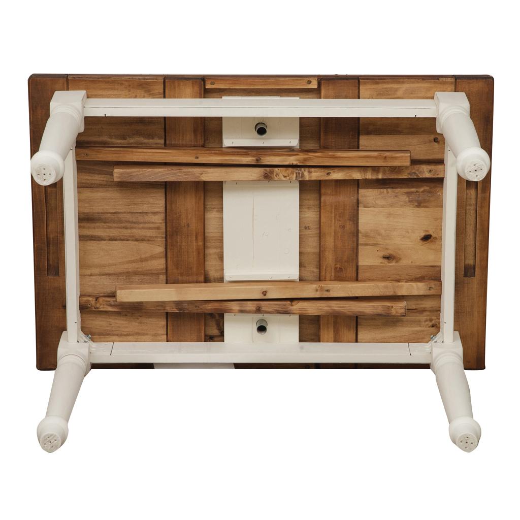 Biscottini tavolo allungabile country in legno massello di for Tavolo di legno allungabile