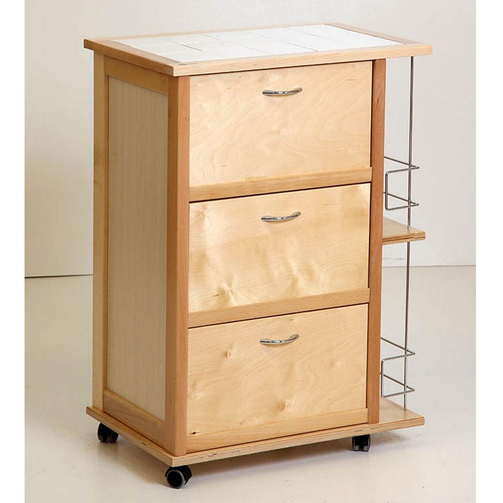 Mas legno carrello vesuvio mobiletto tre ante a ribalta for Mobiletto design