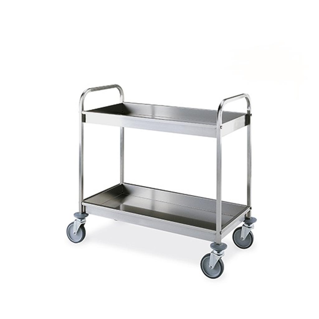 Metalcarrelli carrello portavivande in acciaio inox due - Carrelli porta vivande ...