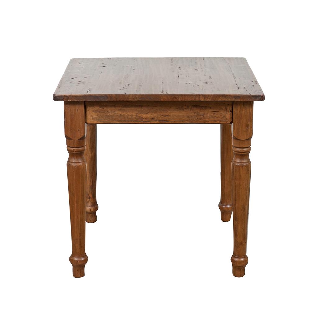 Biscottini tavolo quadrato in legno massello di tiglio 70x70x78 cm cod 5573 - Tavolo quadrato allungabile legno massello ...