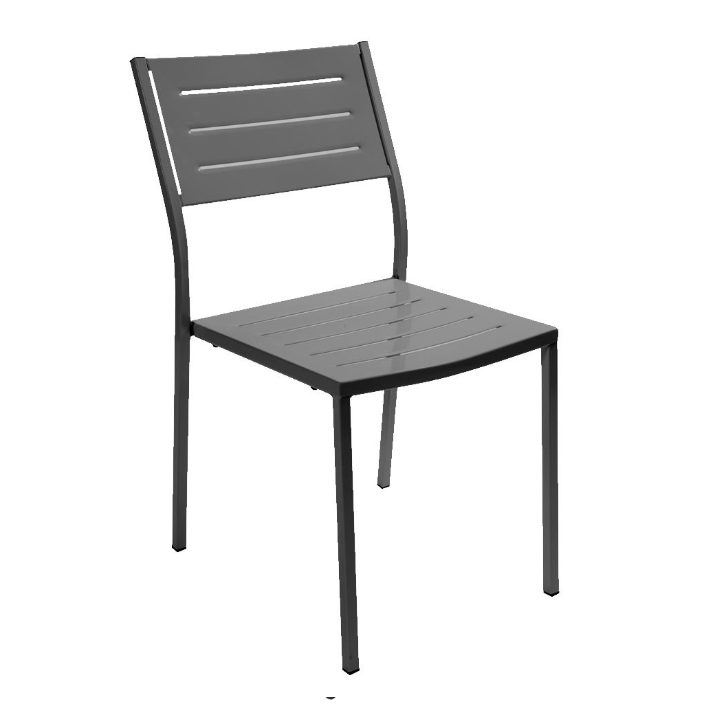 Rd italia sedia impilabile dorio in acciaio per bar e for Arredi esterni per bar e ristoranti