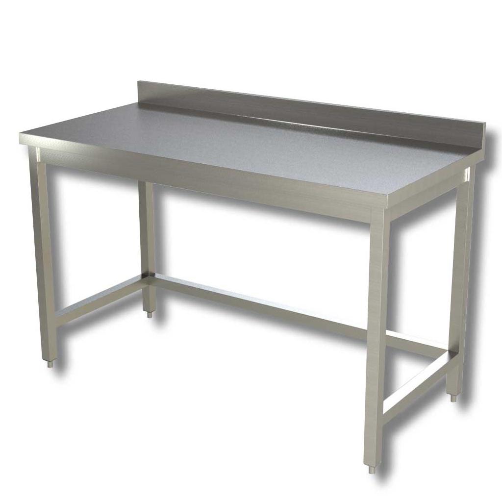 RistoPro Tavolo da lavoro in acciaio con alzatina cod. 5113