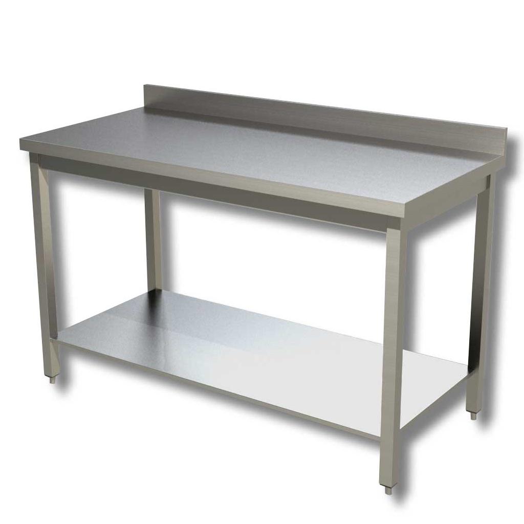 Ristopro tavolo da lavoro in acciaio con ripiano e - Tavolo da lavoro con ruote ...